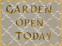 Garden Open Today, circa 1950