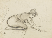 Study of a nude, crica 1900