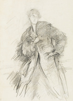Study of a woman with coat