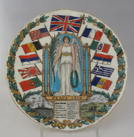 Victory plate 'Peace 1919'