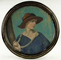 Portrait of Lady in Red Hat
