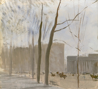 Study of Apsley gate from Hyde Park...