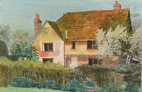 Artist Kenneth Rowntree: Simpkins Cottage, Great Bardfield, late 1930s