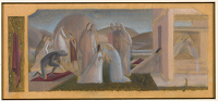 Artist Winifred Knights: Compositional study for Scenes from the Life of Saint Martin of Tours