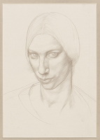 Artist Winifred Knights: Self-portrait