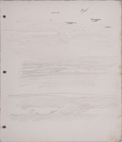 Artist Sir Thomas Monnington: Overflying aeroplanes, study for Clouds and Spitfires, circa 1943