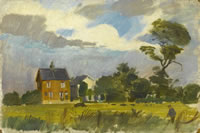 Artist Alan Sorrell: Thors Mead, 1947