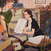 Artist Alfred John Nunney: Back to School, late 1930s