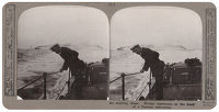 Artist Anonymous: Stereoscopic print: An exciting chase. British destroyers on the track of a German submarine