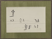 Artist Charles Cundall: Study for Cricket match