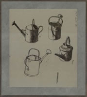 Artist Charles Mahoney: Studies for watering can, mid 1930s