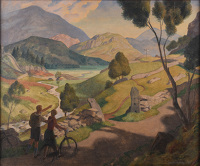 Artist Edward Irvine Halliday: Above Seath Waite, May 1932