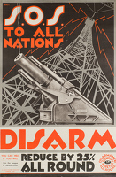 Artist English School: S.O.S. To All Nations - Disarm, League of Nations Union, circa 1920