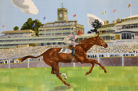 Artist Kenneth Rowntree: Ballymoss winning the George V Stakes