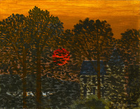 Artist Kenneth Rowntree: Sunset at St Germain, c. 1940