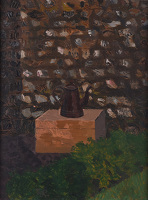 Artist Kenneth Rowntree: Flint Wall & Coffee Pot at Furlongs, 1940s