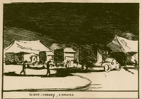 Artist Olive Mudie-Cooke: Night: Convoy, Camiers