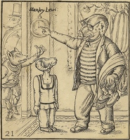 Artist Stanley Lewis: Toy Town, illustration 21; Standing to attention