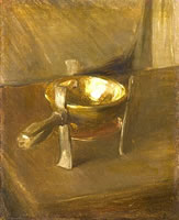 Still life with crucible, circa 1890