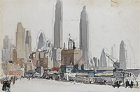 New York, Coenties Slip, circa 1940