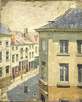 View from a high window, Antwerp