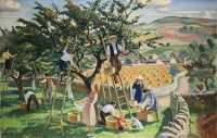 Artist Adrian Allinson: The Four Seasons, Autumn in the Cotswolds