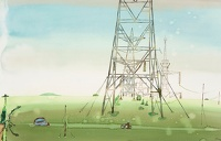 Driving Past the Electricity Pylons
