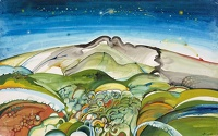 Artist David Evans: Landscape with Starry Sky