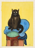 Artist David Evans: Portrait of a Cat I