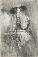Lavinia in a large hat, circa 1915