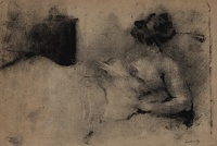 Artist Albert de Belleroche: Woman lying down