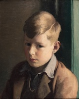Artist Edward Irvine Halliday: Stephen as a Boy, portrait of the artists son