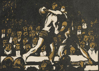 Artist Frank Brangwyn: The Prize Fight (or The Boxers), circa 1919