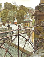 Artist Charles Mahoney: Ambleside, View from the Library Roof, circa 1942
