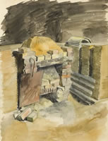 The hearth at Oak Cottage, circua 1938