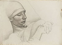 Portrait of Winifred Knights Sleeping