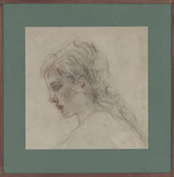 Young Girl, profile study, circa 1900
