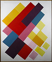 Artist Kathleen Guthrie: Colours on white II, circa 1960