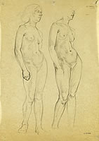 Study of standing nude