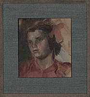 Portrait of a girl in pink