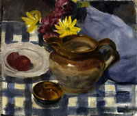 Still life with Blue Chequered Table...