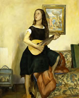 Girl with a Cittern - Portrait of...
