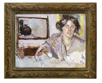 Woman in front of a mirror