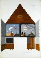 Artist Kenneth Rowntree: The British Restaurant at Acton, Middlesex, 1942