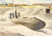 Launching of the Holland Submarine...