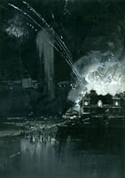 Fireworks over Scarborough, 1894
