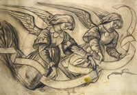 Artist Alan Sorrell: Study of Angels for St Peter's Church, Bexhill-on-Sea, 1951